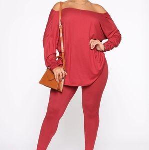 (BNWT) Fashion nova pant set